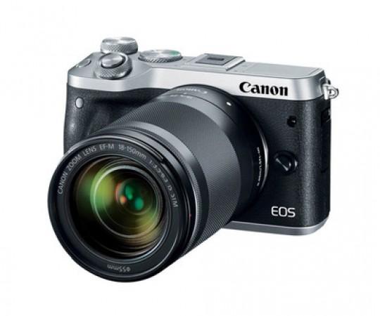 Canon EOS M6 Sølv kit 18-150mm F.3,5-6,3 IS STM