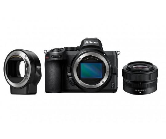 Nikon Z5 hus + 24 - 50 f/4-6,3 med adapter