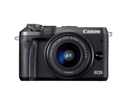 Canon EOS M6 Svart 15-45mm F.3,5-6,3 IS STM